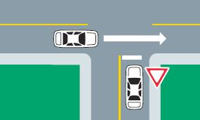 drivers are to yield the right of way to vehicular traffic already in an intersection